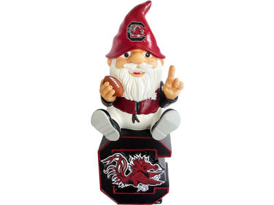 South Carolina Gamecocks Gnome Sitting on Logo