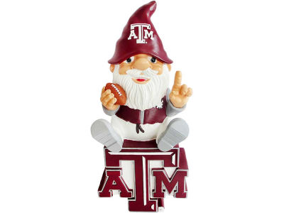 Texas A&M Aggies Gnome Sitting on Logo