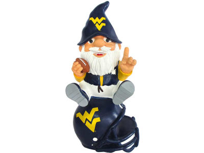 West Virginia Mountaineers Gnome Sitting on Logo