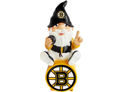 Boston Bruins Gnome Sitting on Logo