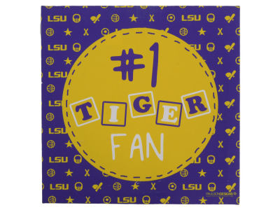 LSU Tigers 12x12 Tiger Fan Canvas