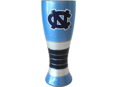 North Carolina Tar Heels Art Glass Pilsner