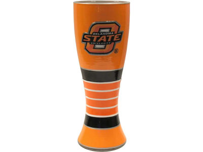 Oklahoma State Cowboys Art Glass Pilsner