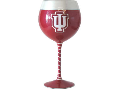 Indiana Hoosiers Art Glass Wine Glass