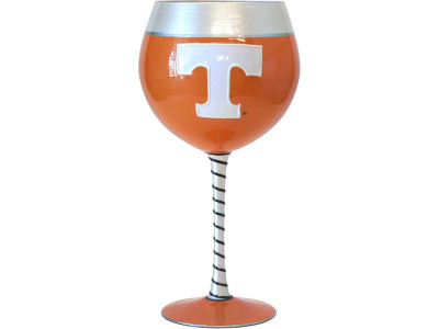 Tennessee Volunteers Art Glass Wine Glass