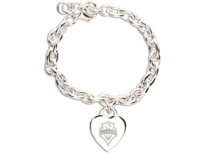 Seattle Sounders FC Heart Charm Bracelet