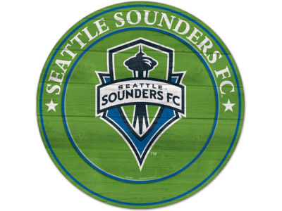 Seattle Sounders FC Circle Wood Sign