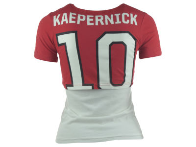 San Francisco 49ers Colin Kaepernick NFL Youth Girls Layered Name and Number T-Shirt