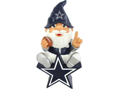 Dallas Cowboys Gnome Sitting on Logo
