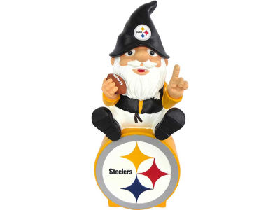 Pittsburgh Steelers Gnome Sitting on Logo