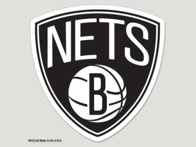 Brooklyn Nets 4x4 Die Cut Decal Color