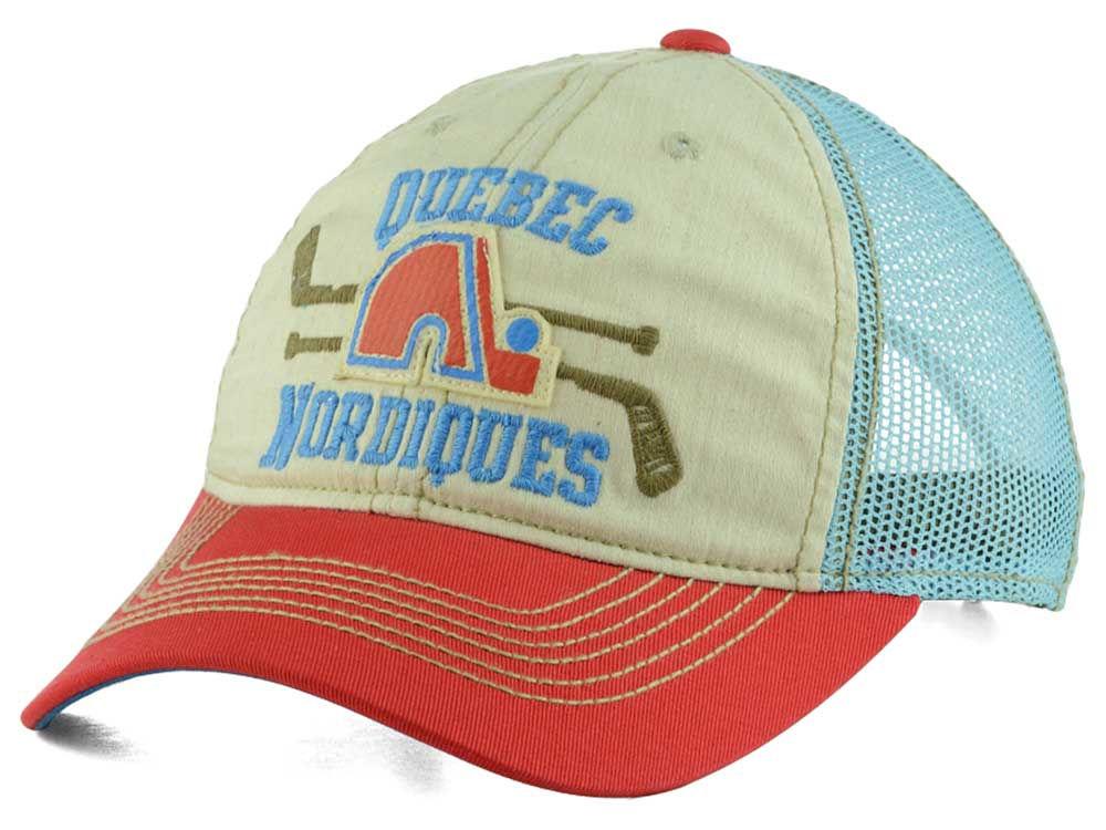 Quebec Nordiques Reebok NHL Hockey Stick Mesh Cap  1f0395d1c48