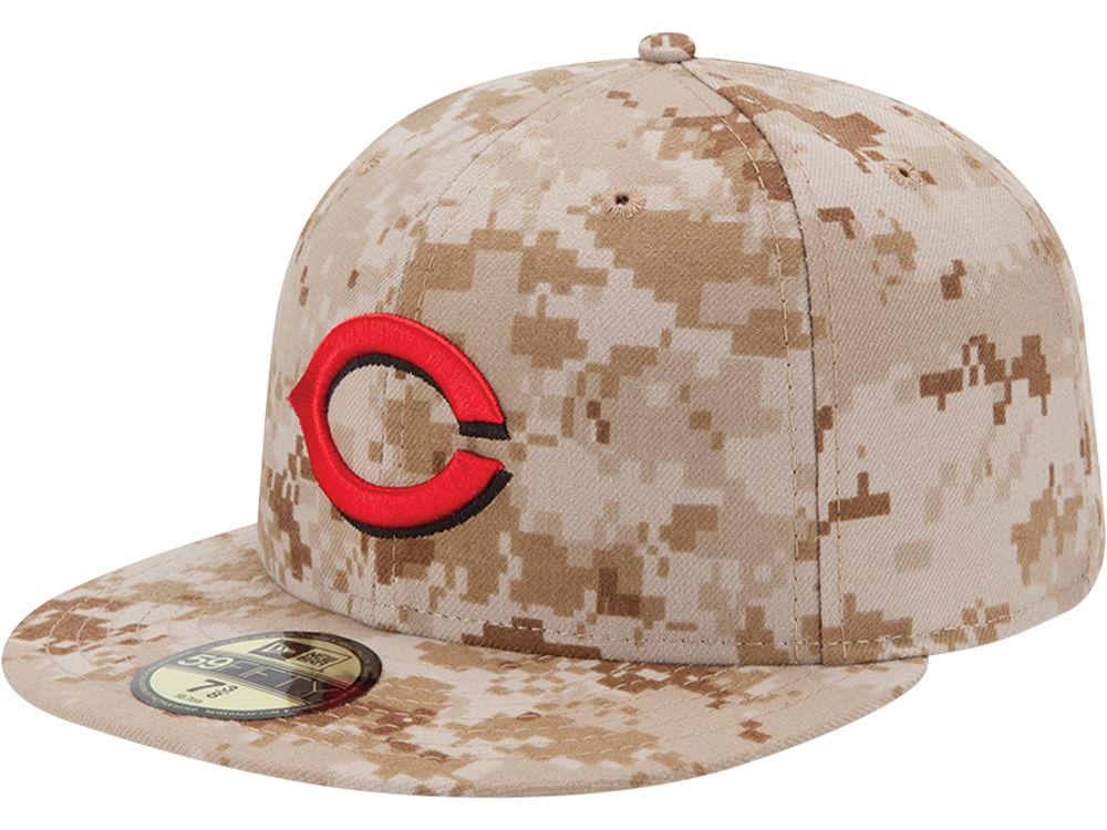 Cincinnati Reds New Era MLB 2013 Memorial Day Stars   Stripes 59FIFTY Cap  baaa6c1351de