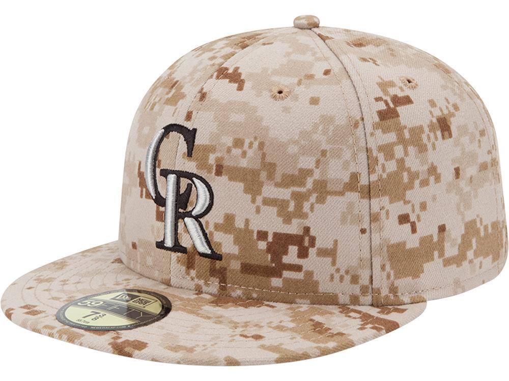 290773d9c89 Colorado Rockies New Era MLB 2013 Memorial Day Stars   Stripes 59FIFTY Cap