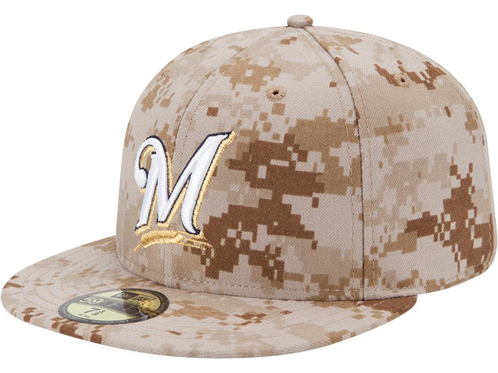 Milwaukee Brewers New Era MLB 2013 Memorial Day Stars   Stripes 59FIFTY Cap   4e5df4a7a41e