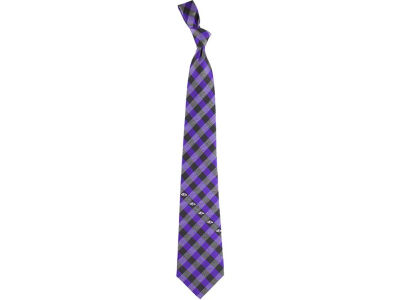 Baltimore Ravens Polyester Checked Tie