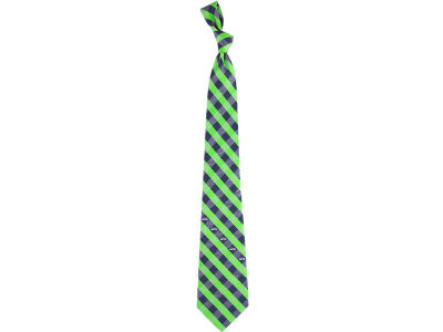 Seattle Seahawks Polyester Checked Tie