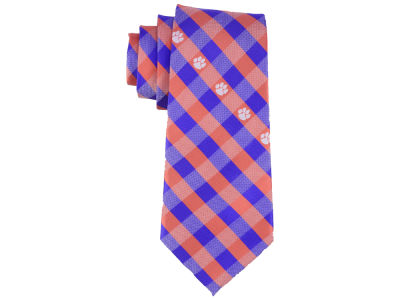 Clemson Tigers Polyester Checked Tie