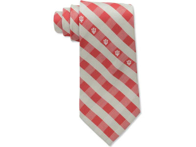 Indiana Hoosiers Polyester Checked Tie