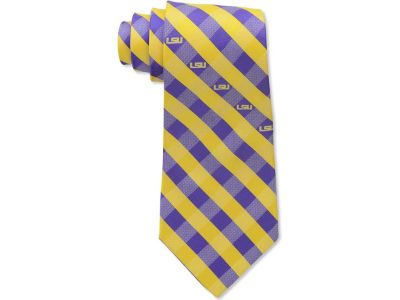 LSU Tigers Polyester Checked Tie
