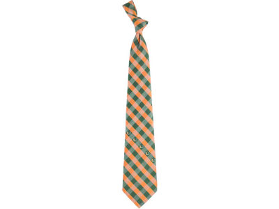 Miami Hurricanes Polyester Checked Tie