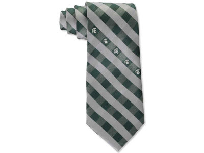 Michigan State Spartans Polyester Checked Tie