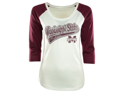 Missouri State Bears NCAA Womens Shortstop Three Quarter Sleeve Raglan T-Shirt