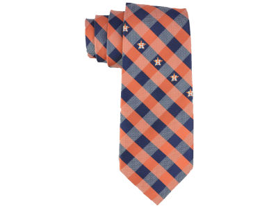 Houston Astros Polyester Checked Tie