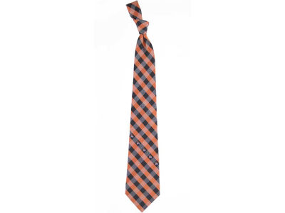 Miami Marlins MLB Checked Woven Poly Tie