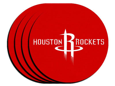 Houston Rockets 4-pack Neoprene Coaster Set
