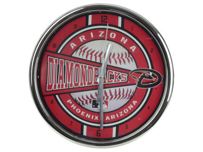 Arizona Diamondbacks Chrome Clock