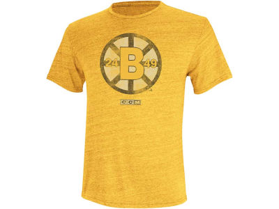 Boston Bruins Reebok NHL CCM Retro Logo T-Shirt