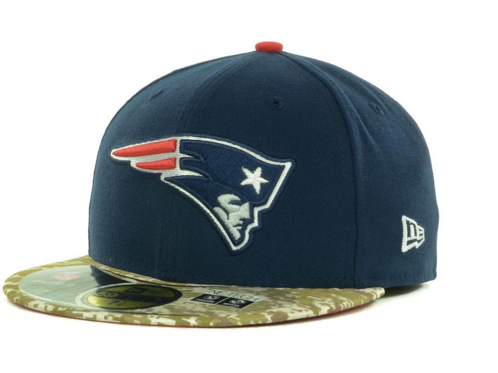 new style 18e67 73da8 New England Patriots New Era NFL Salute to Service On Field 59FIFTY Cap