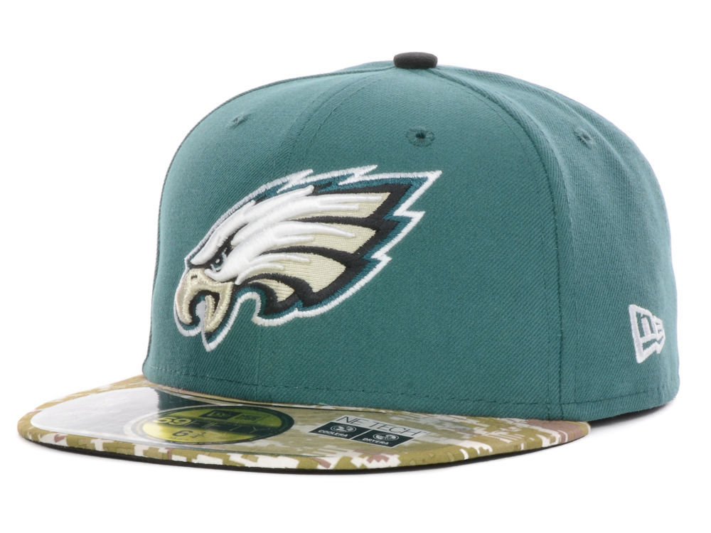 Philadelphia Eagles New Era NFL Youth Salute to Service On Field 59FIFTY Cap 750ebdccd2b9