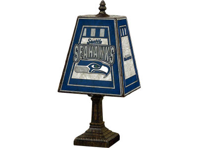 Seattle Seahawks Art Glass Table Lamp