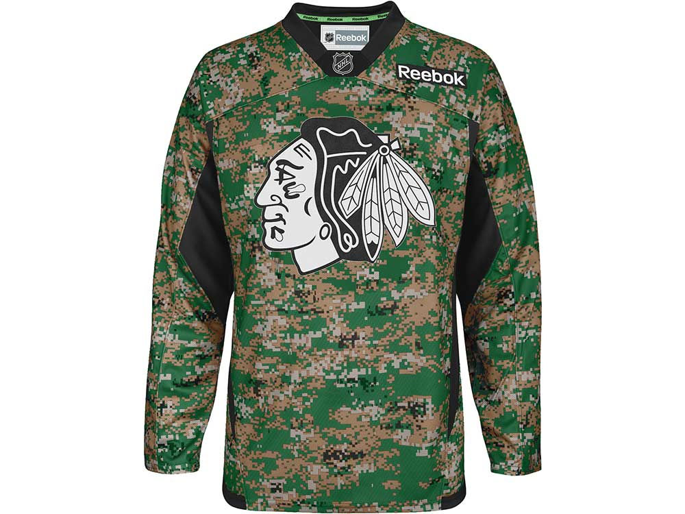 Chicago Blackhawks Reebok NHL Camo Jersey  79f58729b