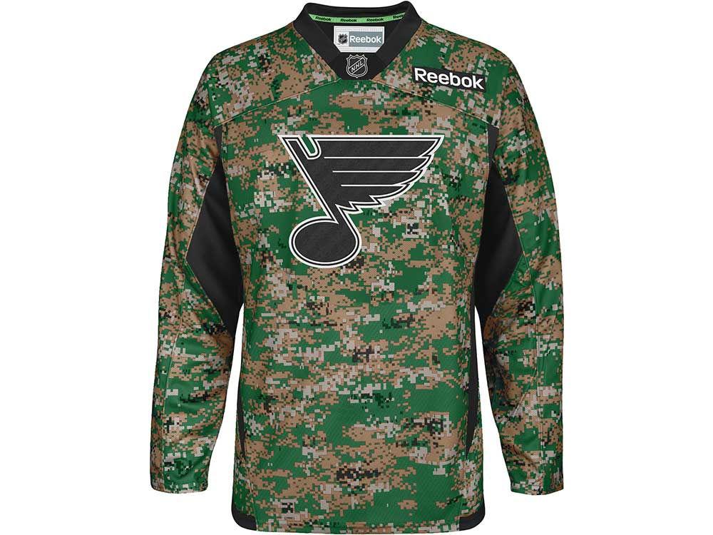 9e5e2cba604 St. Louis Blues Reebok NHL Camo Jersey