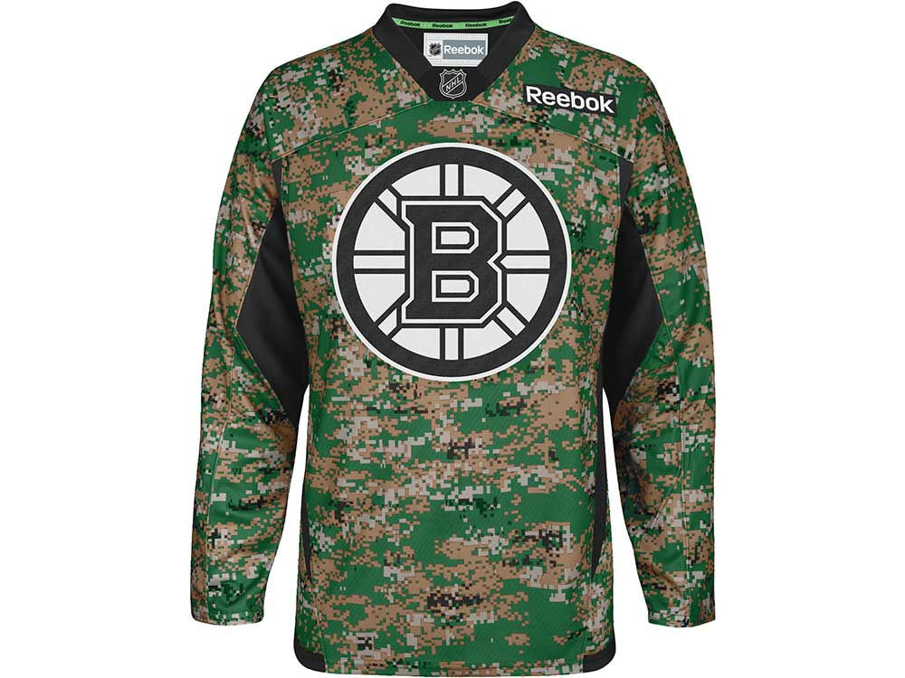 ed5653afd Boston Bruins Reebok NHL Camo Jersey