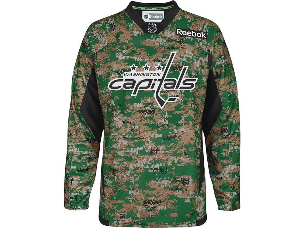 Washington Capitals Reebok NHL Camo Jersey  97b961670