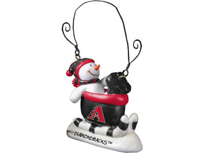 Arizona Diamondbacks Sledding Snowman Ornament