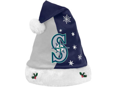 Seattle Mariners Team Logo Santa Hat
