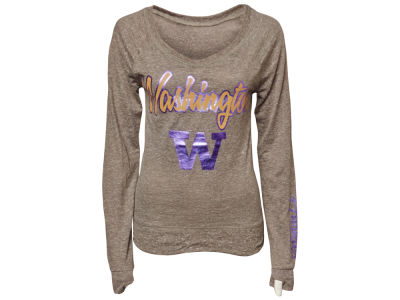 Washington Huskies NCAA Womens Tanner Knobi Fleece Scoopneck T-Shirt