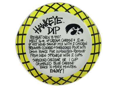 Iowa Hawkeyes Dip Recipe Plate