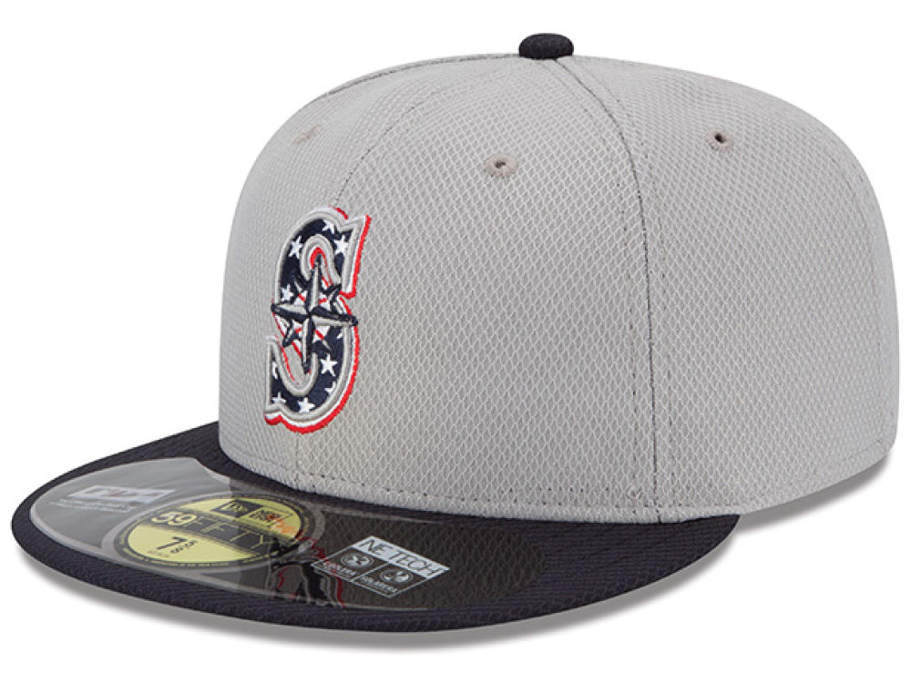Seattle Mariners New Era MLB 2013 July 4th Stars   Stripes 59FIFTY Cap  b8bbfad63e5c