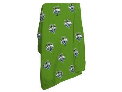 Seattle Sounders FC Logo Brands NCAA Classic Fleece Blanket