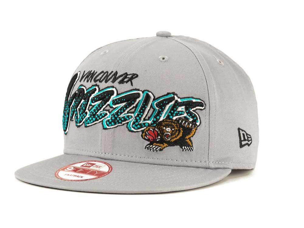 90754ce6c49 Vancouver Grizzlies New Era NBA Hardwood Classics Court Madness 9FIFTY  Snapback Cap