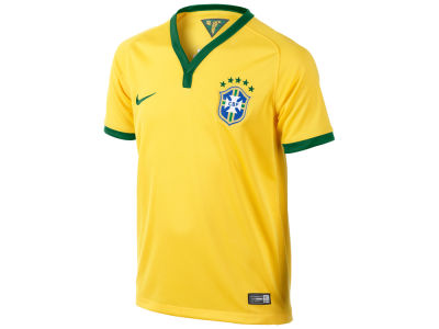 Brazil Nike MLS Youth Soccer WC Home Replica Jersey