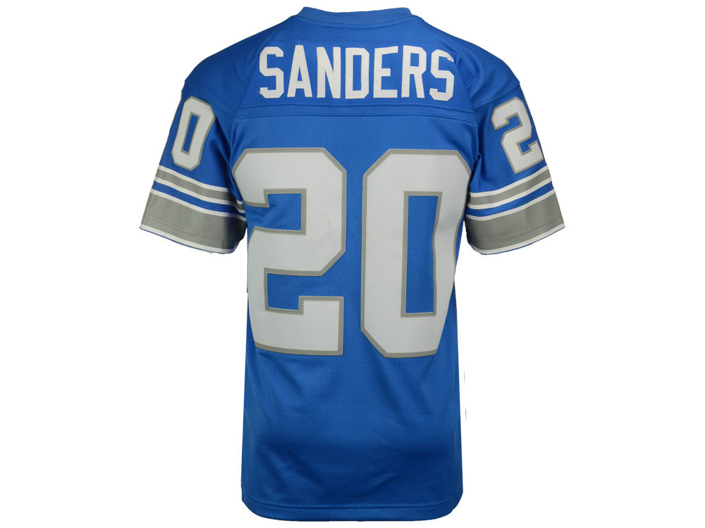 6ca634be75c ... authentic detroit lions barry sanders mitchell ness nfl replica  throwback jersey 3c1ce b9fde ...