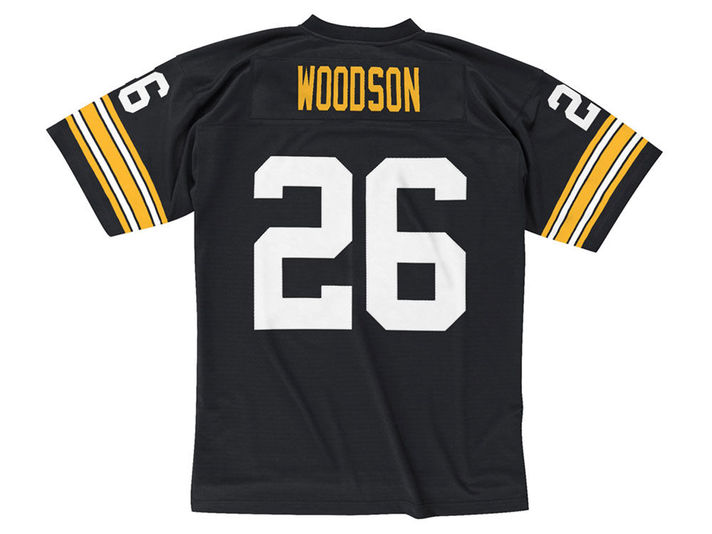1bad1b59a Pittsburgh Steelers Rod Woodson Mitchell   Ness NFL Replica Throwback Jersey