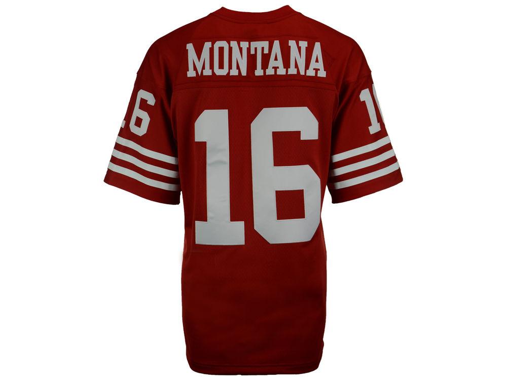 dc76757a9 San Francisco 49ers Joe Montana Mitchell   Ness NFL Replica Throwback Jersey